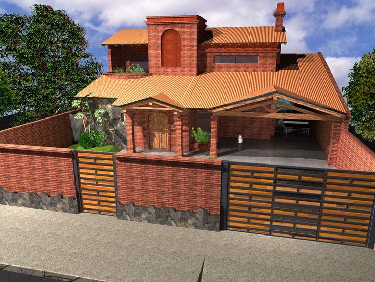 Ladrillos para fachadas casas buscar con google - Cerramientos de fachadas ...