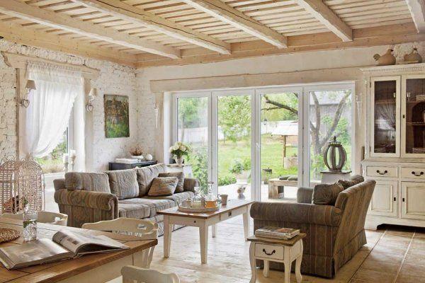 Rusztikus nappali vidéken