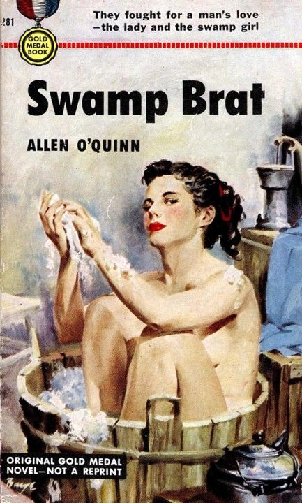 The lady or the swamp girl... Pick one already!Pulp Art, Fiction Paperback, Book Covers,  Dust Covers, Pulp Fiction, Book Jackets, Covers Art, Fiction Covers, Swamp Brat