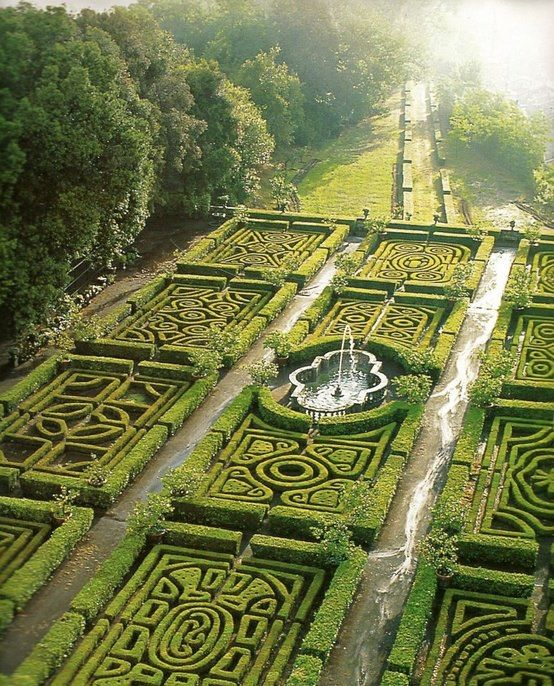 Maze Gardens at Ruspoli Castle, Lazio, Italy — 25 Incredibly Beautiful Places That You Won't Believe Really Exist In Real Life. AMAZING.