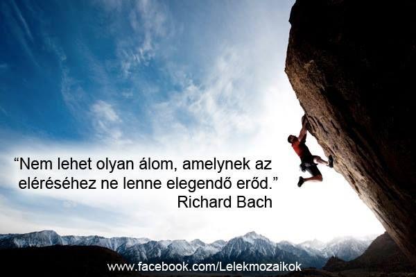 Richard Bach idézete az erőről. A kép forrása: Lélekmozaikok # Facebook