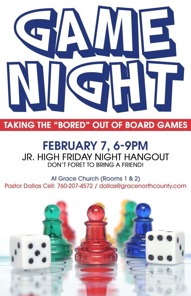 Game Night Flyer   board games   Pinterest   Night, Flyers ...