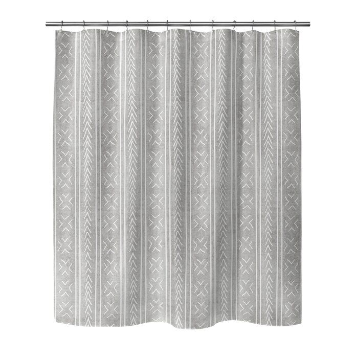 Adeline Geometric Single Shower Curtain In 2020 Curtains Shower