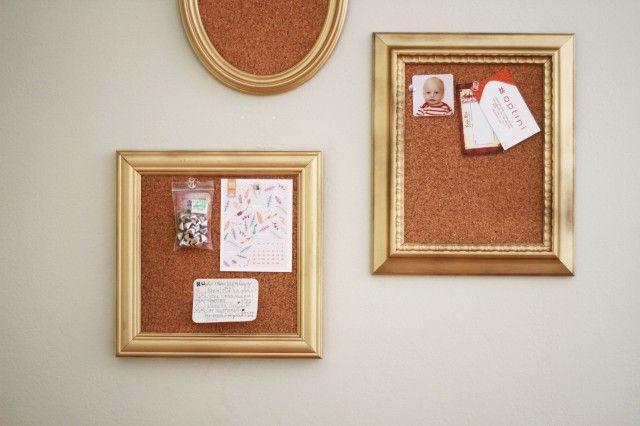 DIY mini framed cork boards