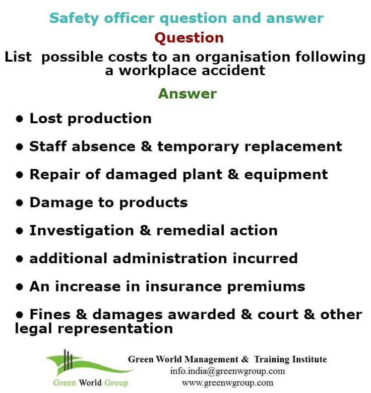 Safety officer question and answer  www.greenworldsaudi.com