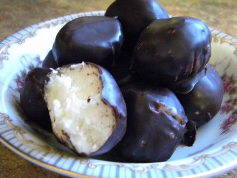 Coconut buttercream Christmas candies