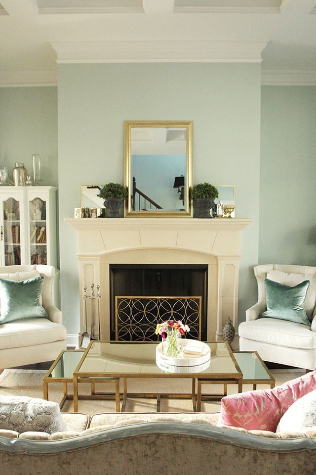 Paint Colors For Family Room With Fireplace Part - 50: 580 Best New House Images On Pinterest | Living Room Ideas, Blue Living  Rooms And Living Spaces