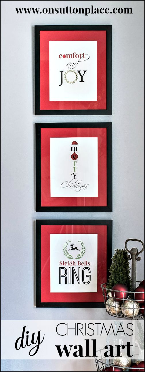 Free Original Christmas printables ready to download, print and frame for instant holiday decor!