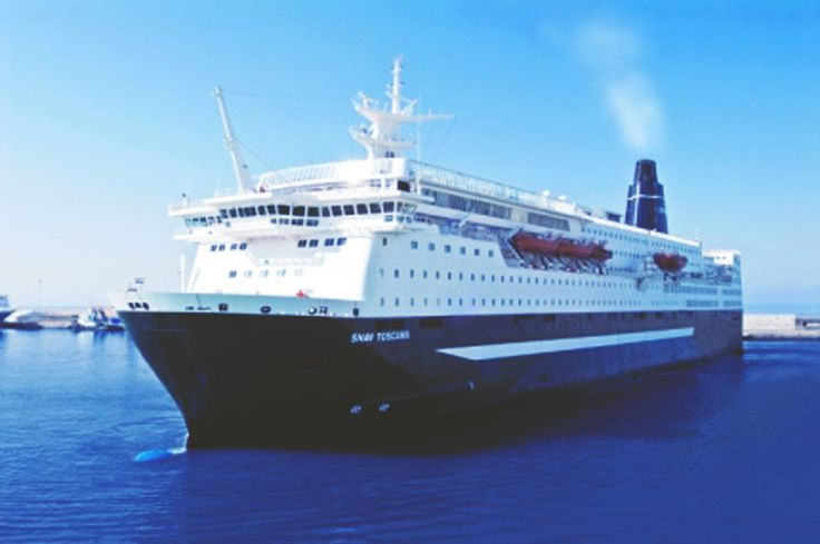 This is our #ship #SNAV_TOSCANA: 168.50 metres #long - 29.706 gross #tonnage –  2.180 #passengers - 518 #cabins & 4 disabled cabins. Read more in #GNVwebsite: http://www.gnv.it/it/gnv/flotta-gnv/la-suprema.html