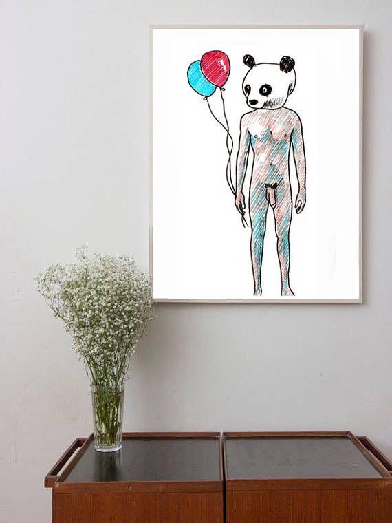 Mannelijk naakt schilderen, kunst Gay, Gay mannen, cadeau voor homo's, erotische kunst, schilderkunst, mannelijk lichaam, kunst aan de muur, alternatieve muur kunst, alternatieve kunst Man