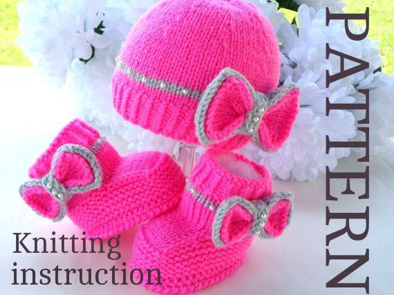 P A T T E R N Knitting Baby Set Baby Shoes Knitted por Solnishko43