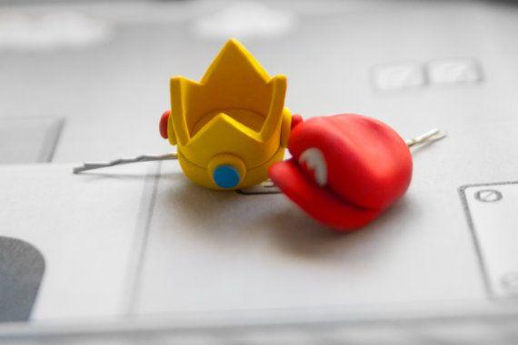 Corona de horquilla princesa Peach o Mario Hat por lizglizz en Etsy
