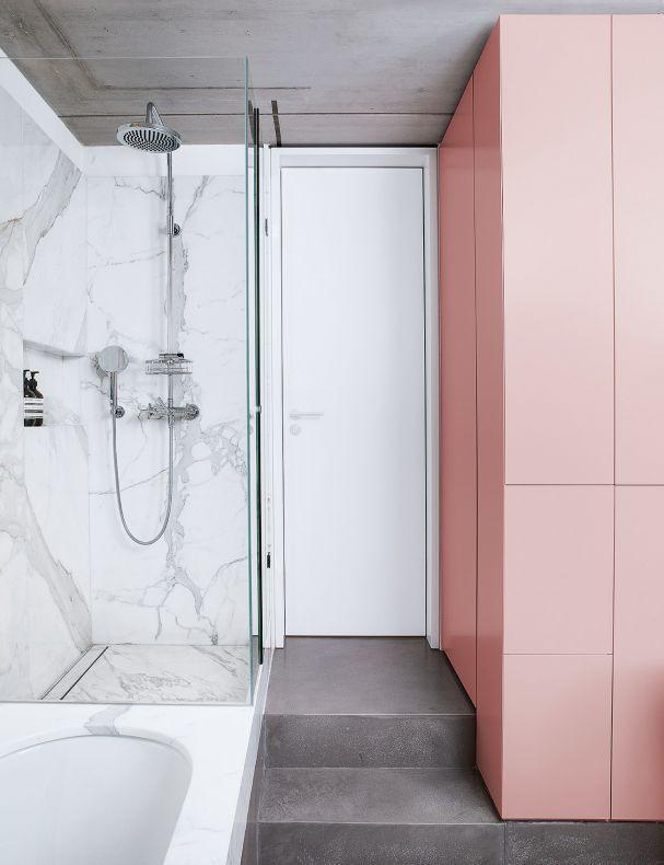 Marmor Im Bad So Geht S Rosa Badezimmer Badezimmer Innenausstattung Haus