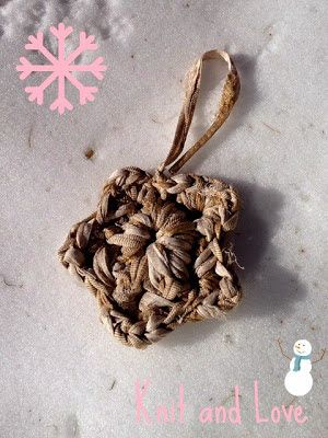 Knit and Love : ESTRELLA DE NAVIDAD DE TRAPILLO
