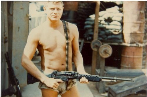 US Navy SEAL with a Stoner 63. #VietnamWarMemories More