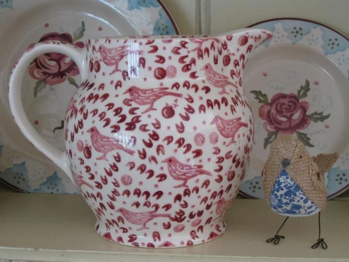 Emma Bridgewater Pink Studio Special 1.5 Pint Jug. Decorated by Lynsey.