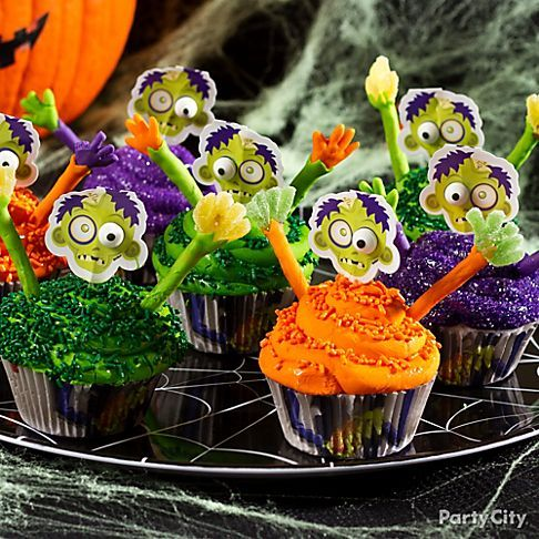 Combine two hot trends – zombies and cupcakes – for a dessert that'll make you the greatest ghostess of the graveyard! A zombie cupcake kit takes half the work out of making these yummy treats, and our Zany Zombie Cupcakes How-To gives you the step-by-step for making the edible arms and hands. Zombies never tasted so good!