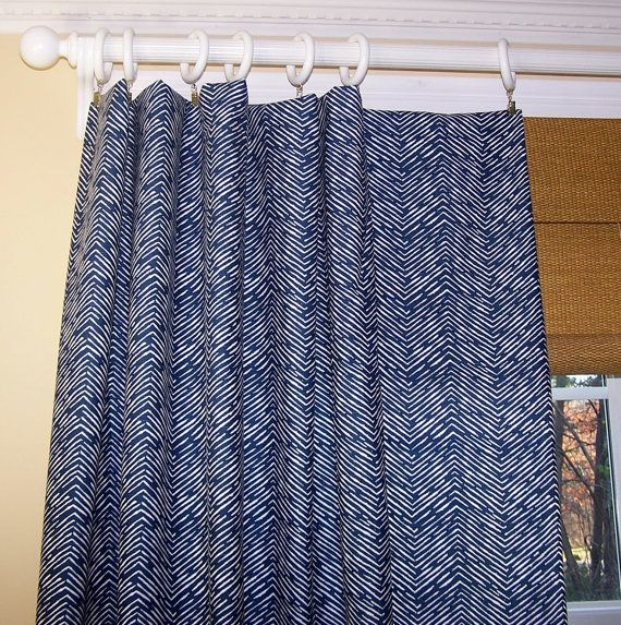 New Modern Cameron Chevron Zig Zag CURTAINS by Cathyscustompillows, $109.00