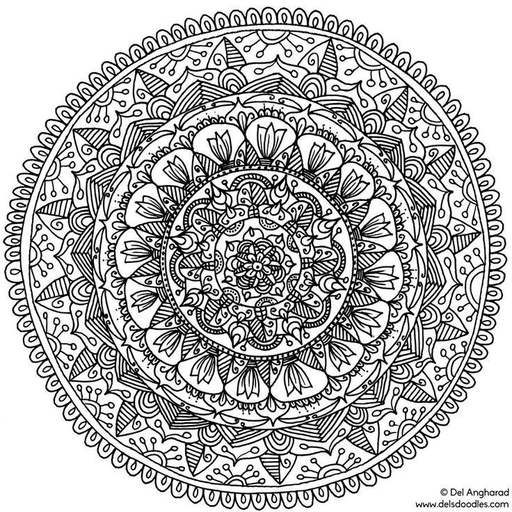 mandala circle coloring pages - photo#32