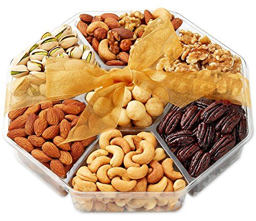 Hula Delights Deluxe Roasted Nuts Gift Basket, 7-Section | The Gift Central