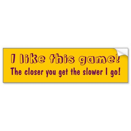 tailgating message i like this game bumper sticker cars game and car bumper stickers. Black Bedroom Furniture Sets. Home Design Ideas