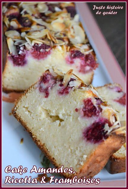 Cake Amandes, Ricotta & Framboises 3 oeufs (6pp) - 250g de ricotta (10pp) - 120g de sucre (60g de fructose 6pp) - 200g de poudre d'amandes (140g/23pp) - 30g de maïzena (3pp) - 100g de framboises surgelées (0pp) - 1 c. à soupe d'huile (3pp) - 1 c. à café de jus de citron (0pp) - 2 c. à soupe bombées d'amandes effilées (30g/5pp)