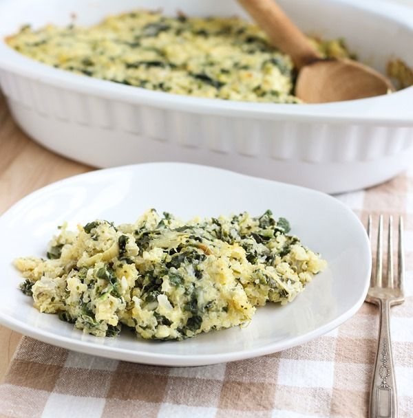 This takes #YUM to a whole other level! #GlutenFree Spinach Artichoke Quinoa Casserole