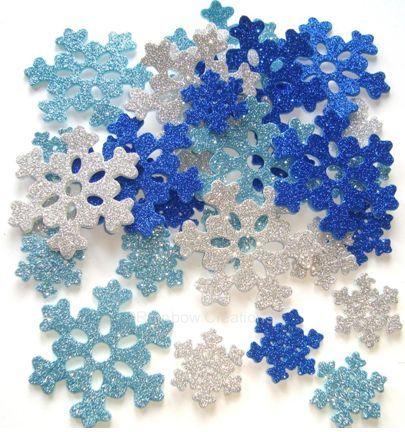 Rainbow Creations Craft Foam Glitter Snowflakes