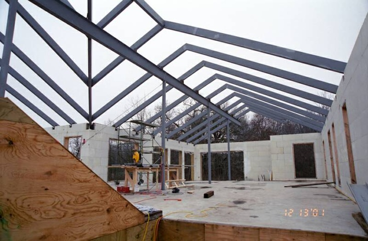 120 best pre engineered metal building images on pinterest for Pre engineered roof trusses