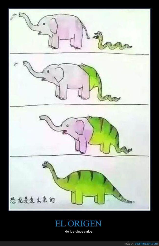 EL ORIGEN - de los dinosaurios Gracias a http://www.cuantarazon.com/ Si quieres leer la noticia completa visita: http://www.estoy-aburrido.com/el-origen-de-los-dinosaurios/
