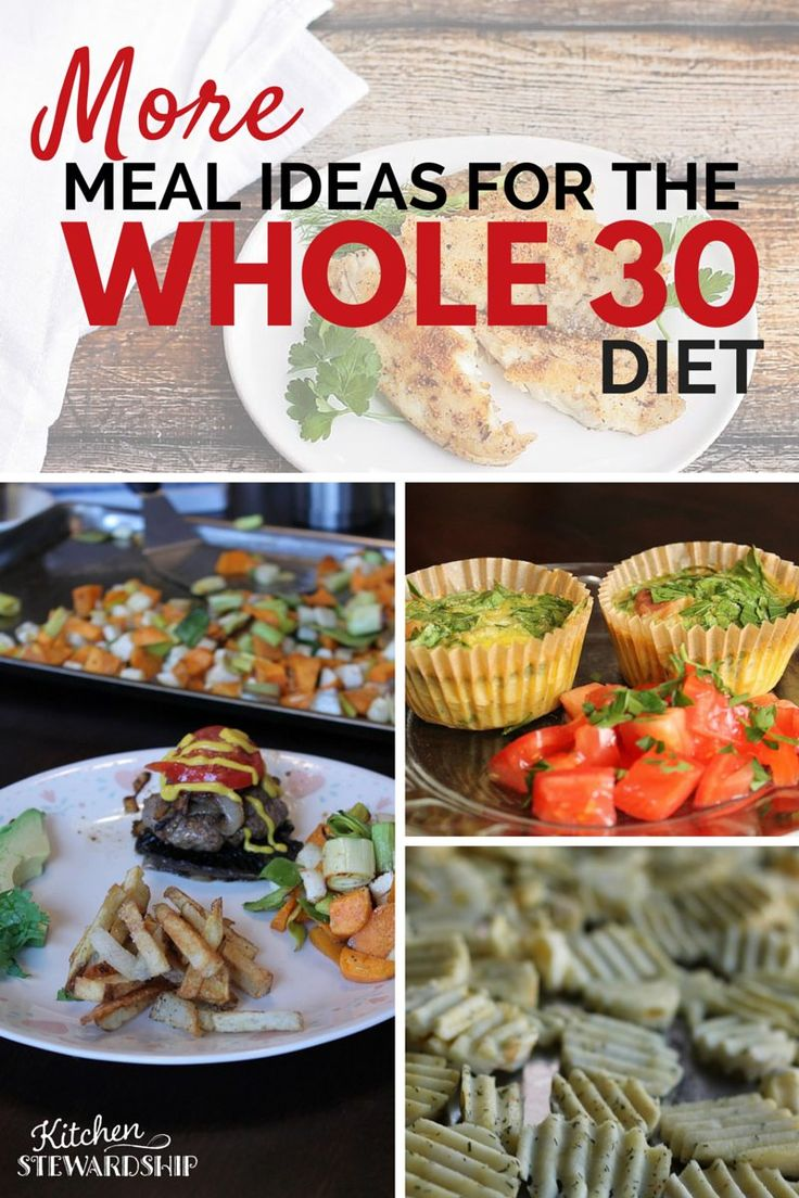 WHOLE30 meal plans with sides and lots of stuff to munch on. Fill up and stay healthy.