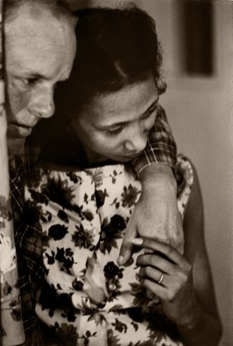 """On March 18, 1966, LIFE magazine published a feature under the quietly chilling headline, """"The Crime of Being Married."""" The article, illustrated with photographs by LIFE's Grey Villet, told the story of Richard and Mildred Loving, a married interracial couple battling Virginia's anti-miscegenation laws."""