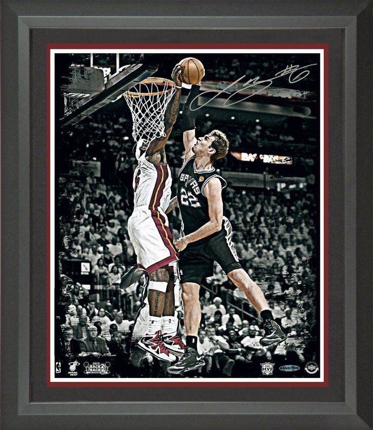 Lebron James Signed 2013 NBA Finals Rejection Photo Framed | Signed Photo, Jersey, Shoes, Basketball Memorabilia
