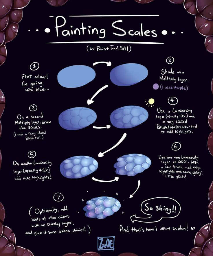 painting scales with Paint Tool SAI by Electrical-Socket on DeviantArt