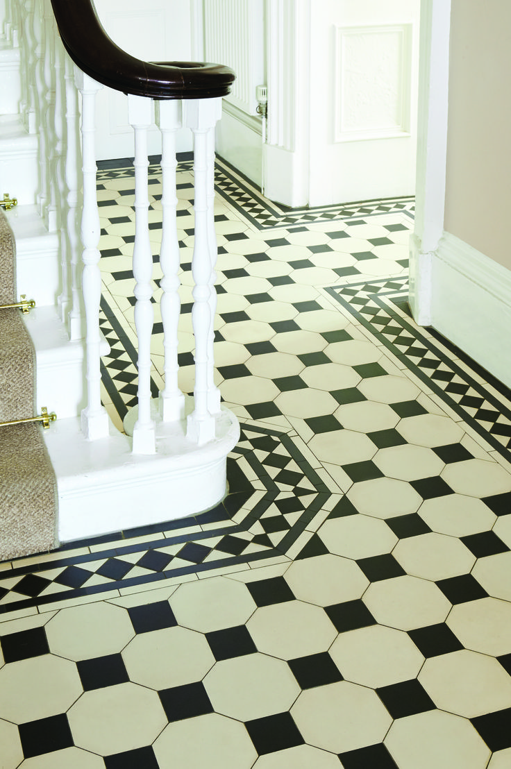 28 best victorian floor tiles images on pinterest entrance victorian floor tiles by original style chesterfield pattern with melville border dailygadgetfo Choice Image