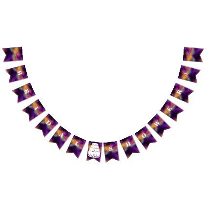 Exotic Purple Gold Custom Wedding Bunting Flags  $27.90  by CoastalEmpire  - cyo customize personalize diy idea