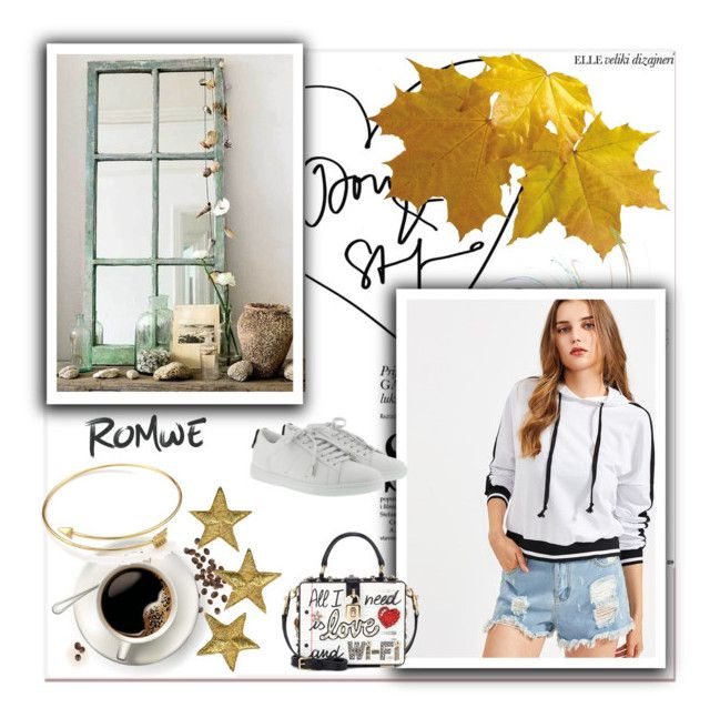 """""""contest romwe"""" by ruzica-713 ❤ liked on Polyvore featuring Dolce&Gabbana and Yves Saint Laurent"""