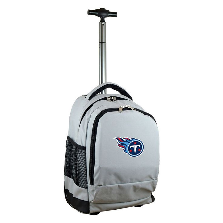 Tennessee Titans 19'' Premium Wheeled Backpack - Gray