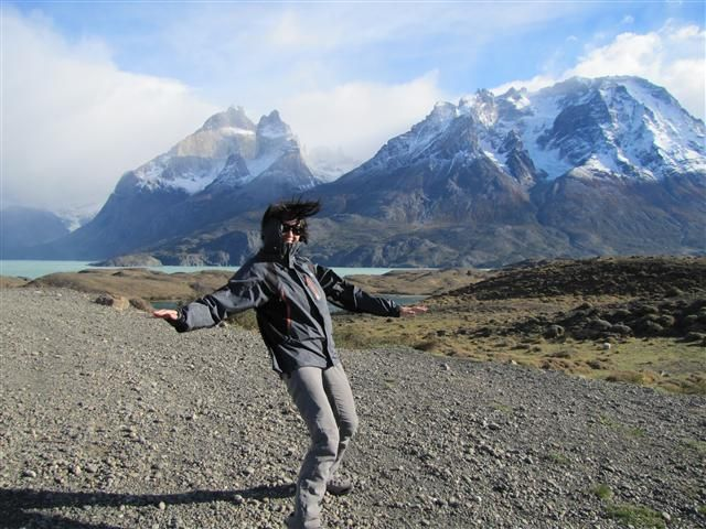 Windy weather, Torres del Paine, Chile