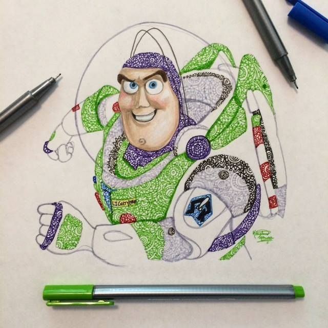 how to draw buzz lightyear from toy story