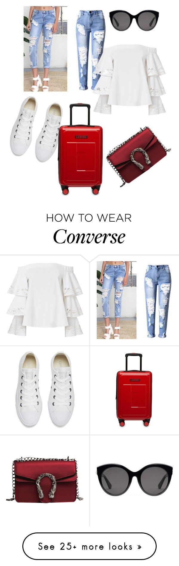 """Untitled #699"" by eveallen-1 on Polyvore featuring Converse, Intermix and Gucci"