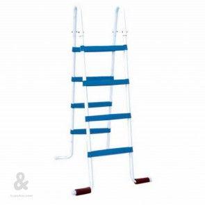 Escalera lacada de 8 pelda os 4 4 para piscina elevada for Piscinas montables