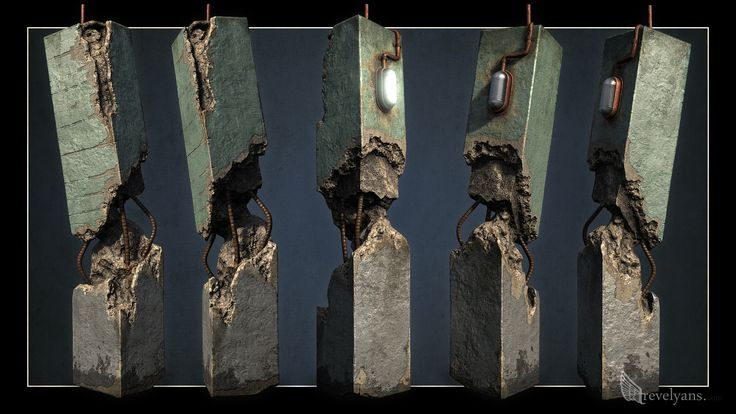 A damaged pillar prop for a competition at work... - Polycount Forum