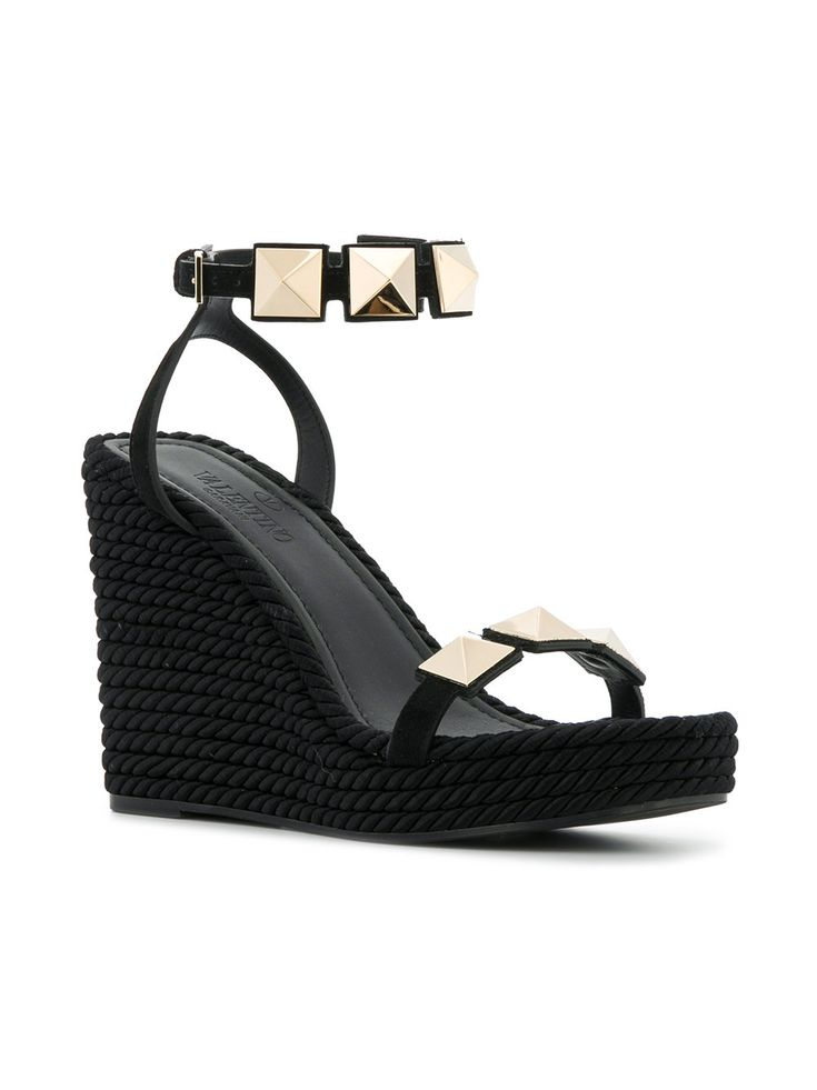 Valentino wedge stud sandals