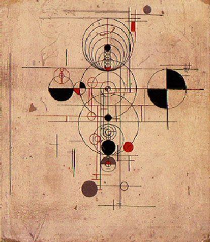 Estudo 1952   Waldemar Cordeiro têmpera sobre papelão 33.00 x 38.00 cm