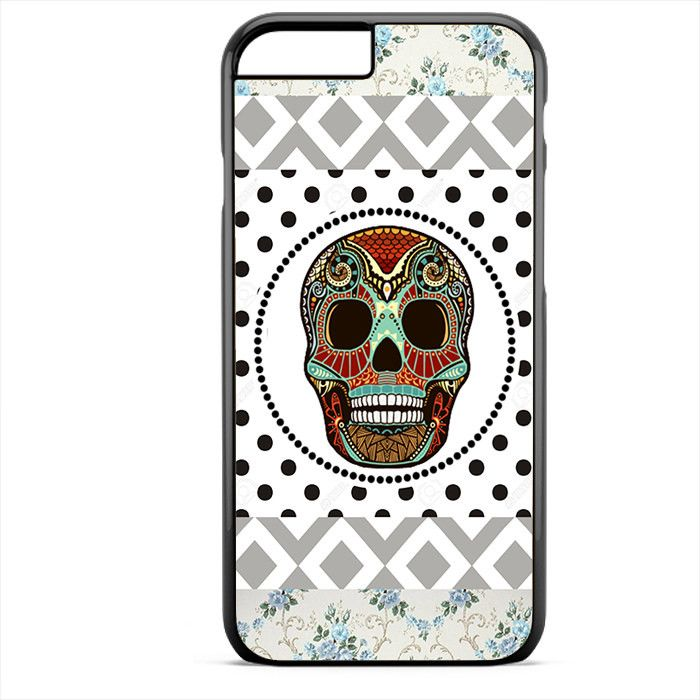 Aztec Skull Polkadots Background Phonecase For Iphone 4/4S Iphone 5/5S Iphone 5C Iphone 6 Iphone 6S Iphone 6 Plus Iphone 6S Plus