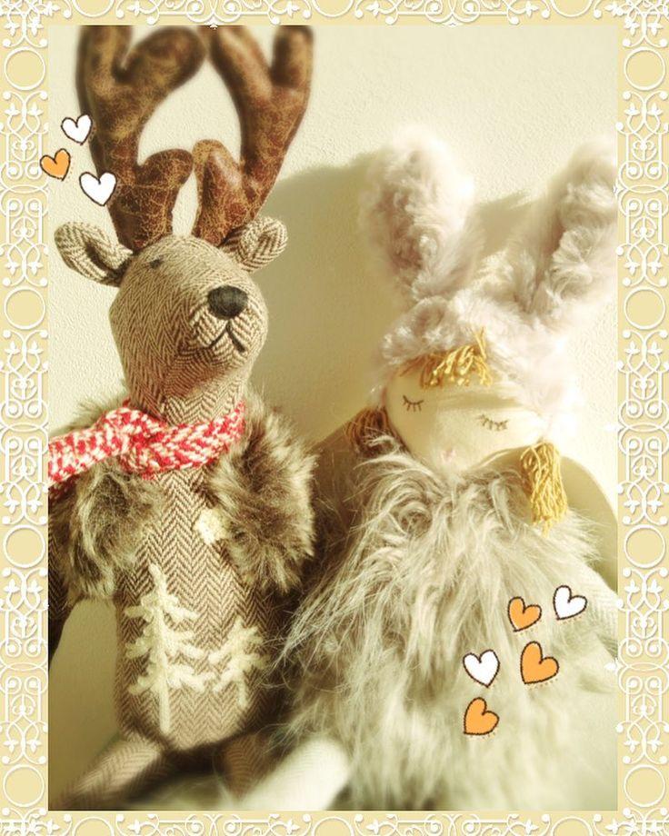 ほんの少しはやい…クリスマスプレゼント😊 お気に入りのフランスSiaのぬいぐるみ… トナカイサン…コンドハ サンタヲ ツレテキテネ…  Just a little quick ... Christmas gift 😊 My favorite French Sia stuffed doll ... Reindeer ... Next time bring along Santa ... #Sia #フランス #ぬいぐるみ #クリスマス #プレゼント #トナカイ #エンジェル #Sia #France #PlushToy #Christmas #Present #Reindeer #Angel