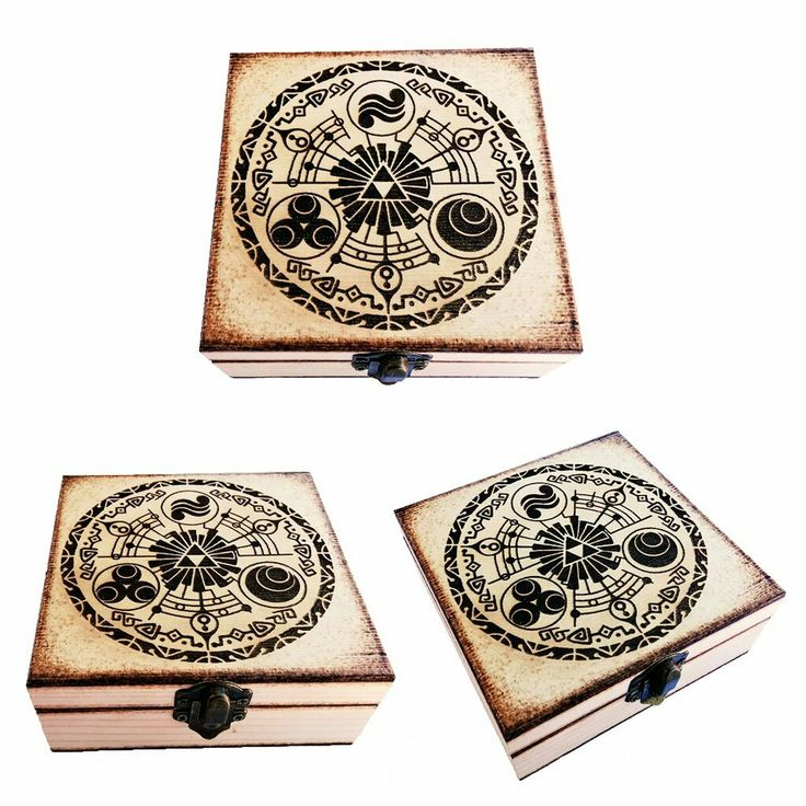 Zelda Pyrography box / Caja Pirograbada ^^ (Customizable with name / Personalizable con nombre) www.FreakArtisan.etsy.com  #Zelda #Nintendo #Switch #Steam #Pc #playstation #Xbox #Videojuegos #Videogames #Gamer #games #Disney