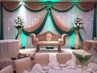 Свадебный фон гирлянды золотые и зеленые гирлянды для фон дизайн только для фон гирлянды не белый backgroud