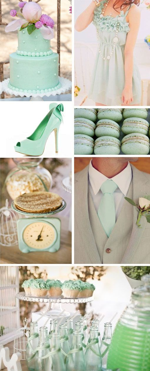 Wedding color for 2013? MINT! Pair it with gold, yellow or coral! Perfect for
